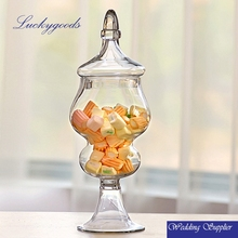 LGJ031 LGJ032 decoration glass crystal candy jars and lids