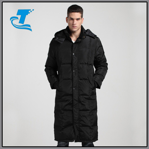 New Russia winter jacket Long coat mens grey duck down coat and jacket men long warm winter parka with hood