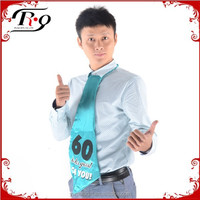 light blue 60 year old funny giant birthday party tie