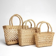 Vietnam Handwoven seagrass women Straw summer mesh beach <strong>bag</strong> Hollow Out straw <strong>bag</strong> <strong>tote</strong> <strong>bag</strong>