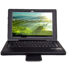 gaming Bluetooth Keyboard Leather Case With Holder for Sony Xperia Tablet Z / for SGP312, Operating Distance: 10m(Black)