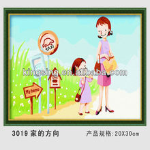 High quality Menglei DIY painting by number 3019