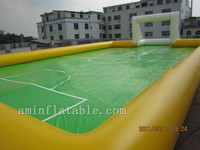 For outdoor camping inflatable soccer /football field game for sale