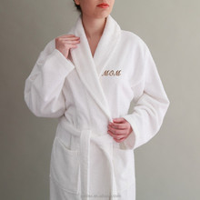 Factory Wholesale Custom Logo Cotton Terry Hotel Bathrobe
