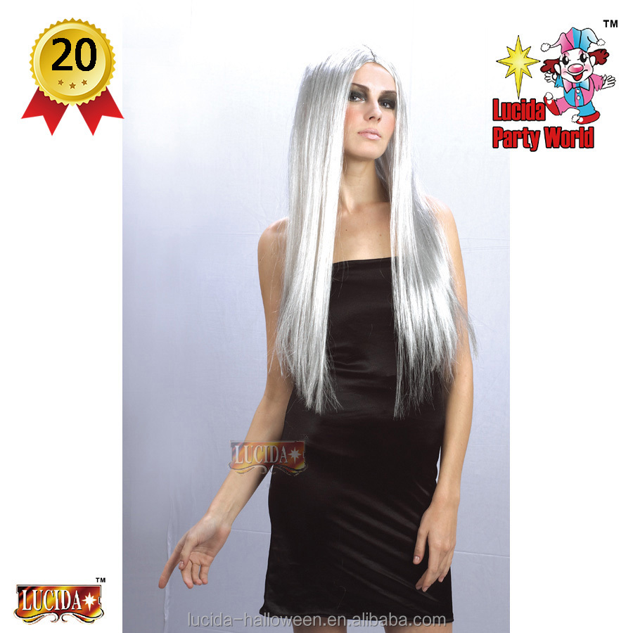 "Lucida Halloween Carnival wigs 68041 witch wig 24""long,grey party costume supplier"
