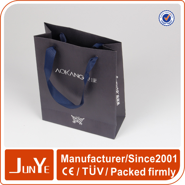 Custom print watch packaging gift paper bags for promotional