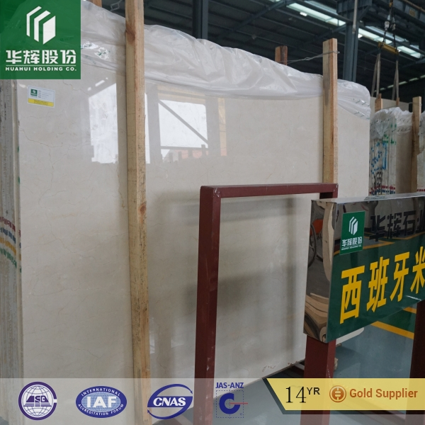 Imported Spanish marble polished marble tiles Cream Marfil for interior and exterior decoration