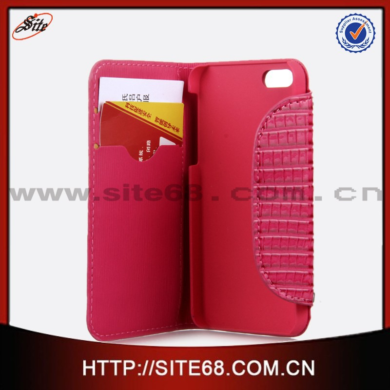 Factory Supply Directly Cell Phone wallet Leather Case for Apple Iphone 5S