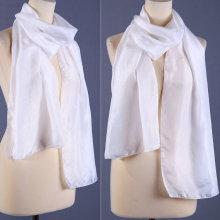 White silk scarves for dyeing