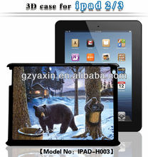 2014 fashion professional factory supply 3d case for ipad case,3d case for ipad 2