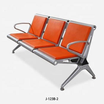 New model superior quality injection PU foam airport waiting seats J-123B-2