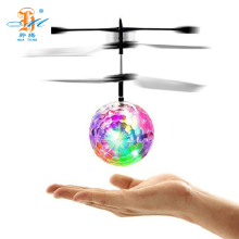 Infrared induction fly crystal balls rc flying ball with LED flashing lighting