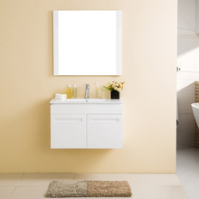 Classic 2 doors Wall Mounted plywood bathroom cabinet with mirror