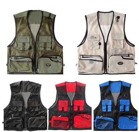Camo Fishing Vest Fishing Clothes Men Fly Fishing Vests