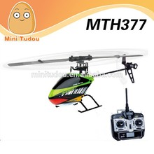 2014 new Product 2.4g 6 Channel RC Helicopter Electric Collective Pitch Flybarless H377 electric model helicopters 3D flying