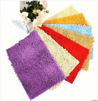 Super soft and absorbent bathroom microfiber mat