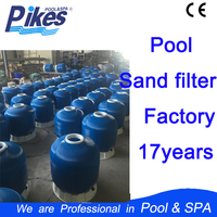 Pikes swimming pool Fiberglass Top mount Water well sand filter machine with multi port valve