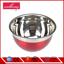 Stainless Steel Red Salad Bowl