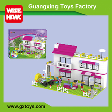 Weagle plastic building blocks house model children's toys and girls