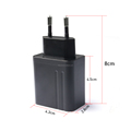 Portable 100-240V Input 5V3A Charger for Mobile phone, Tablet, EU Plug