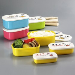 4 pcs Food Grade Microwavable Plastic Box Container with Lid