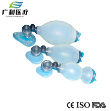 Hospital silicone first aid breath resuscitator kit
