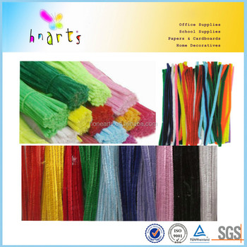 colored chenille stem, 10cm chenille stem factory price