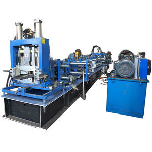 Hot sale price turkey fully automatic steel channel purlin quick changeable c z purline roll forming machine for cz