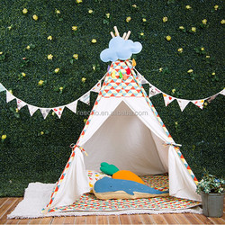 Hot Sale Brand 100% Cotton Canvas Children Large Teepee Tent For Sale