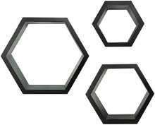 E1 mdf decorative honeycomb wall shelves