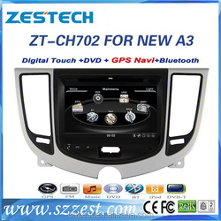 for Chery A3 Car Sat Navi headunit new with reverse camera car dvd player audio radio gps navigation