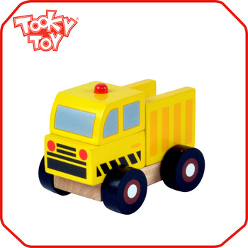 Kids Playing Wood Block Machineshop toys Car Wooden Truck