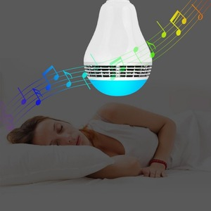 Timer auto on-off APP control LED Blue tooth music light bulb with speaker