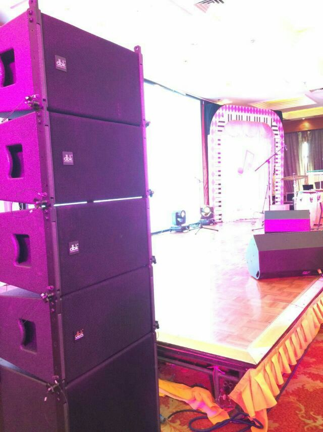 dbk style 10 inch TW line array speakers CLA110 for stage light from guangzhou audio supplier