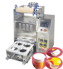 Desktop Semi automatic cup sealing machine/sealer machine feed with plastic film/tinfoil/aluminum foil