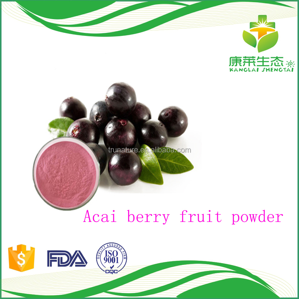 Manufacture supply dry Acai berry fruit powder extract with 10-20g free sample