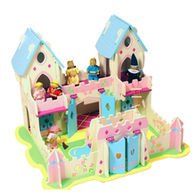 new style wooden dollhouse design toy /princess castle toy
