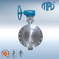 Low Price Gear Operate Flange Stainless Steel Butterfly Valve
