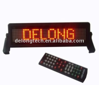 CE RoHS 12V P6mm 7X35pixel multi-language red electric programmable brake led display for car