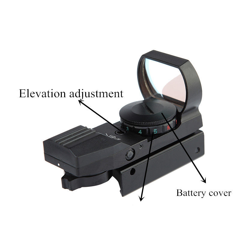 New Holographic red & green dot open reflex sight black 4 type reticle for riflescope, pistol