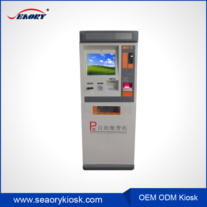 Intercom system supporting parking payment with card reader kiosk