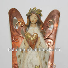 resin angel figurines,polyresin decorations