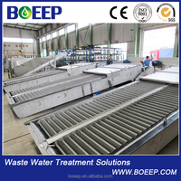 Rotary Fine screen for Industrial waste water treatment project