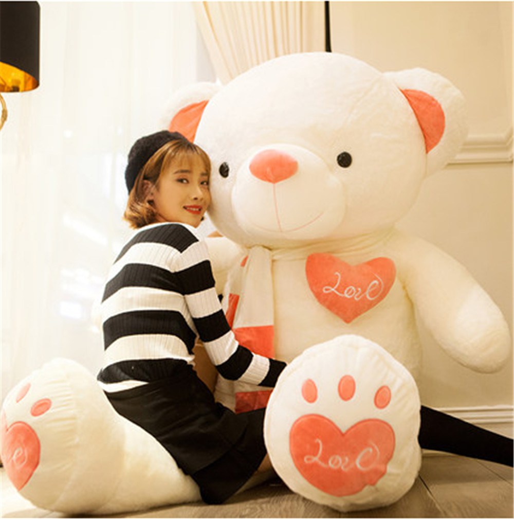 Fancytrader Huge Giant Love Teddy Bears Plush Toys Gifts for Girls Soft Big Stuffed Bears Doll Christmas New Year Valentine's Day Gifts 8
