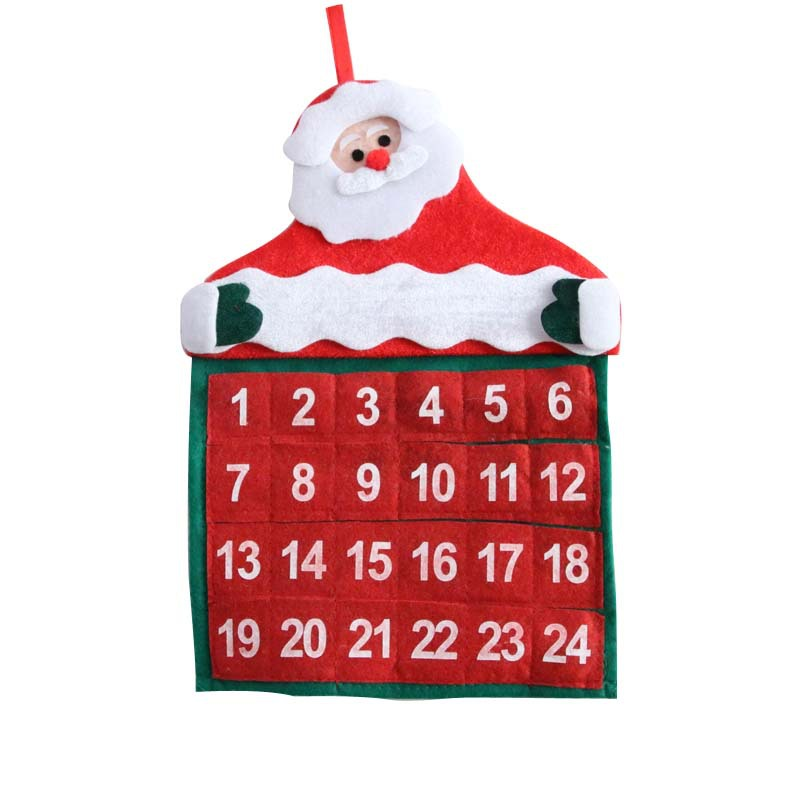 Wholesale Fabric Material Santa Claus Christmas Advent Calendar Home <strong>Decoration</strong>