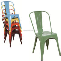 Countryside stackable metal cheap cafe furniture