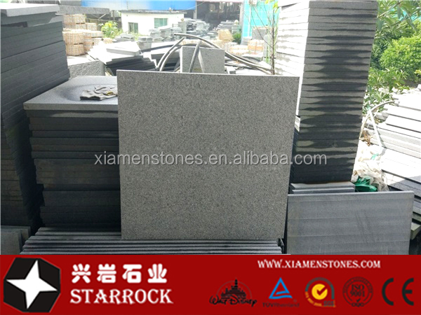 Chinese natural g654 flamed granite tile, granite stone