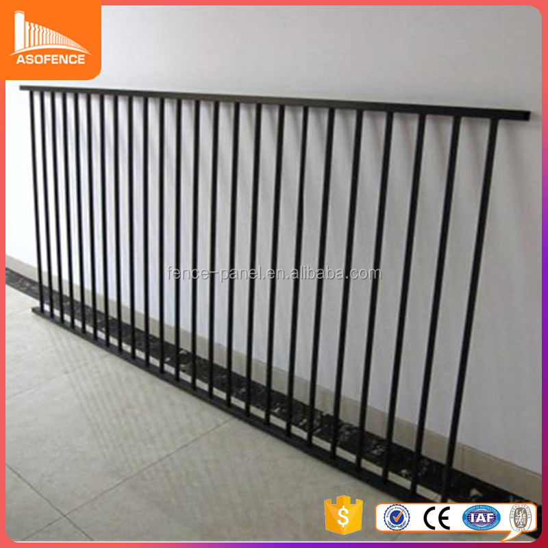 2016 china hebei manufacture factory galvanized Decorative wrought iron garden wall fence gates trellis