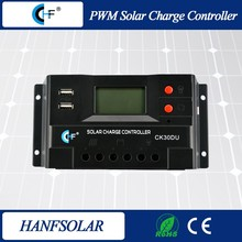 12/24/48v 30 amp pwm solar li-ion battery charge controller
