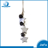 wood like recycled papier mache/ paper pulp crafts of star garland with pine cone for christmas ornaments